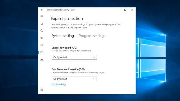 Windows Defender Exploit Guard