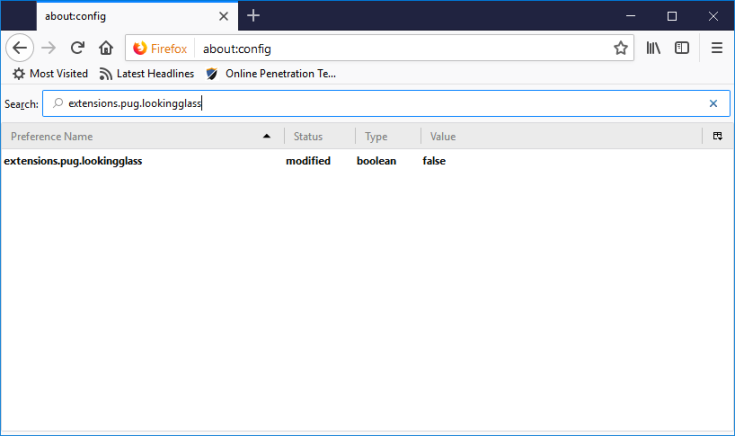 Mozilla Firefox installs a strange looking addon without