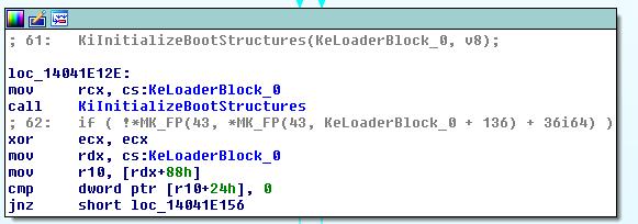 KeInitializeBootStructures