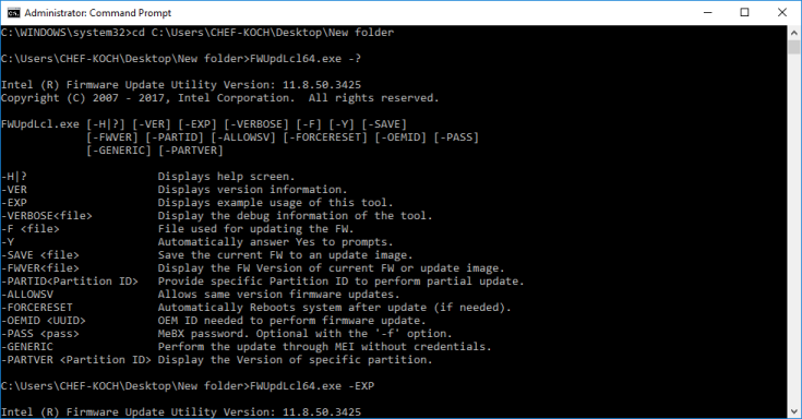 Howto update your Intel Management Engine (ME) Firmware