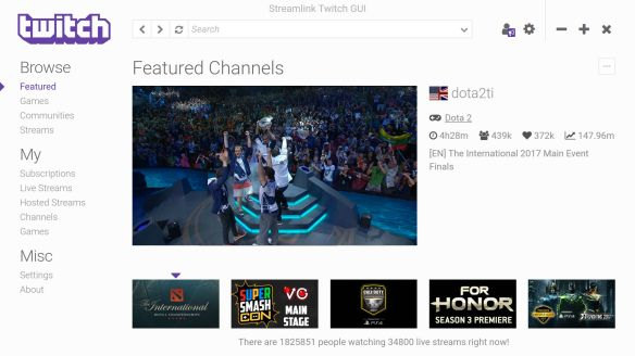 Streamlink Twitch GUI – Enjoy Twitch without buffering and