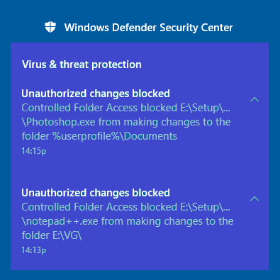Unauthorized_Changes_Blocked_Controlled_Folder_Access_Windows_10