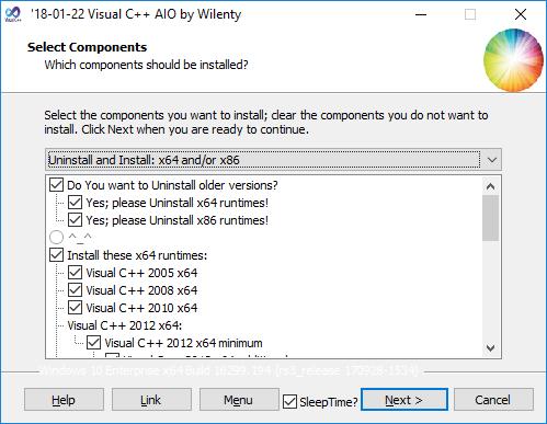 Visual C++ AIO InstallerUninstaller 18.01.22