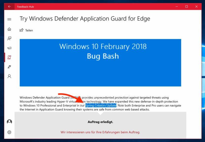 Windows 10 Pring Creators Update
