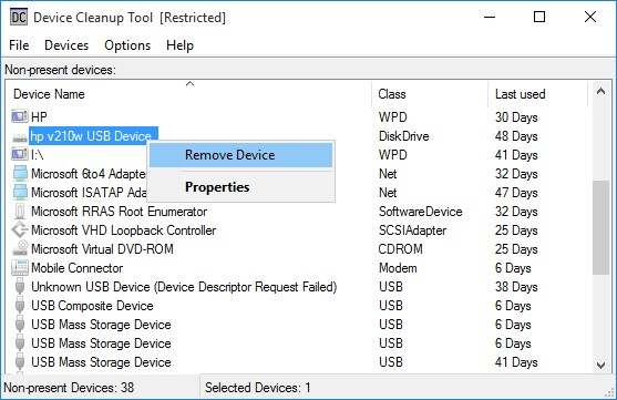 Device Cleanup Tool