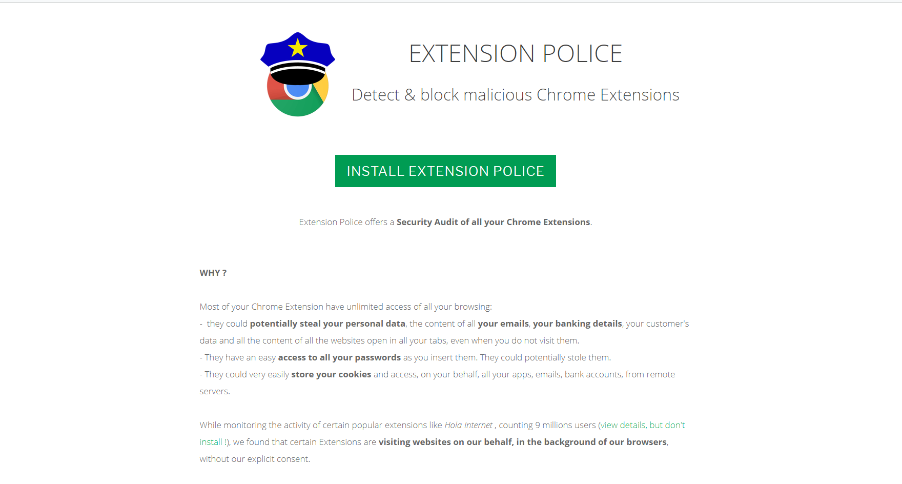 Extension Police