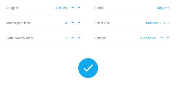 Google Song Maker Settings