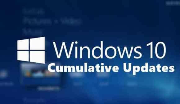 microsoft cumulative updates