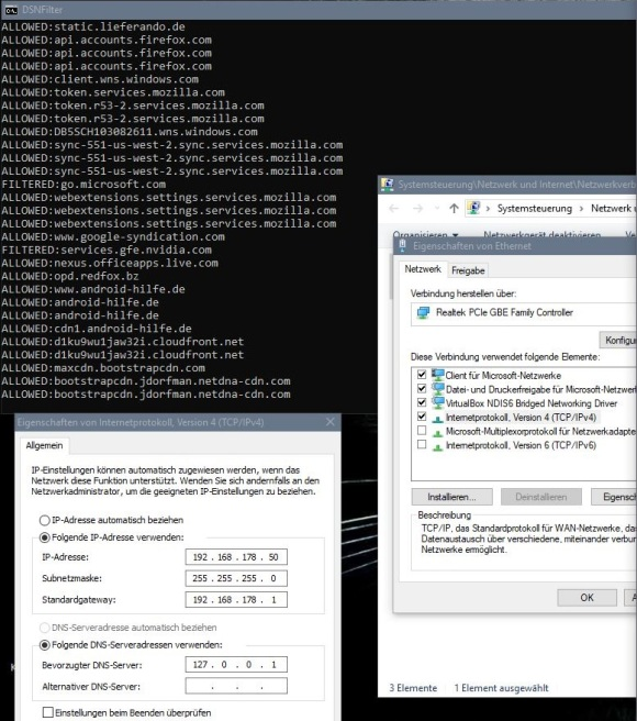 personalDNSfilter under Windows