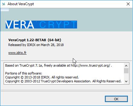 VeraCrypt 1.22 Beta 8