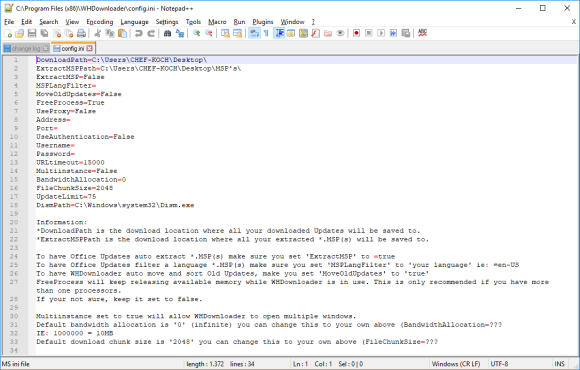 WHDownloader config.ini