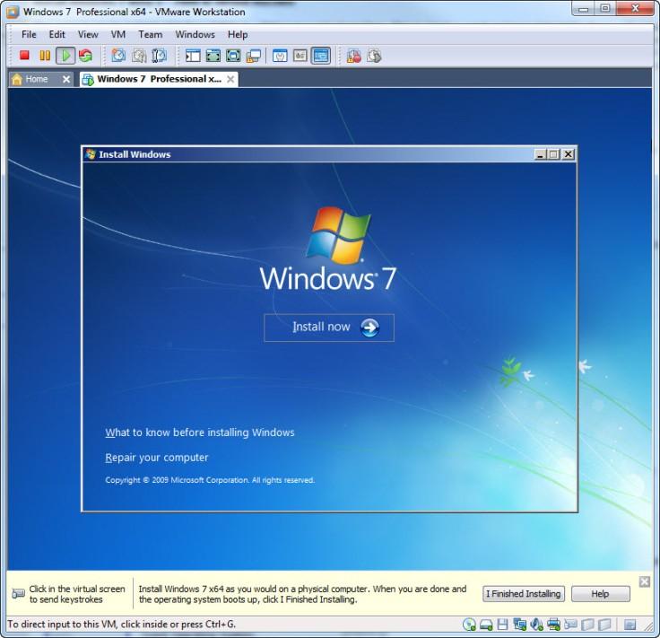 Windows 7 VMWare