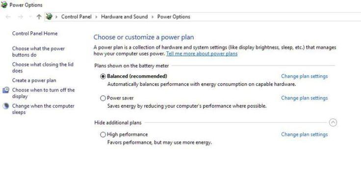 Windows Power Plan