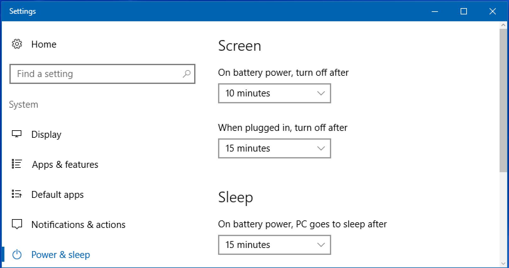 Windows Sleep