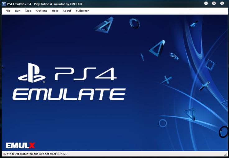Fake PS 4 emulator