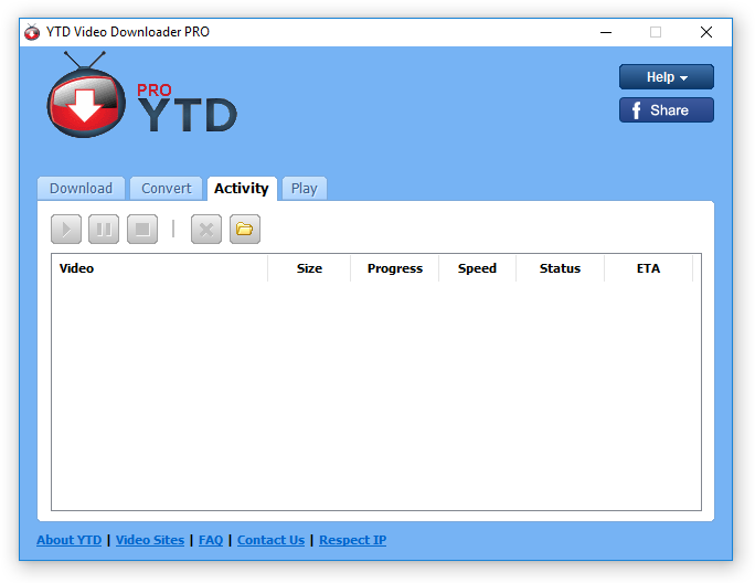YTD Pro Activity