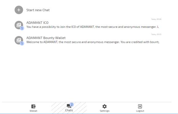 ADAMANT chat