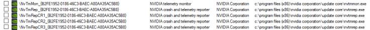 nVidia new telemetry