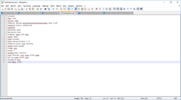 OpenVPN configuration